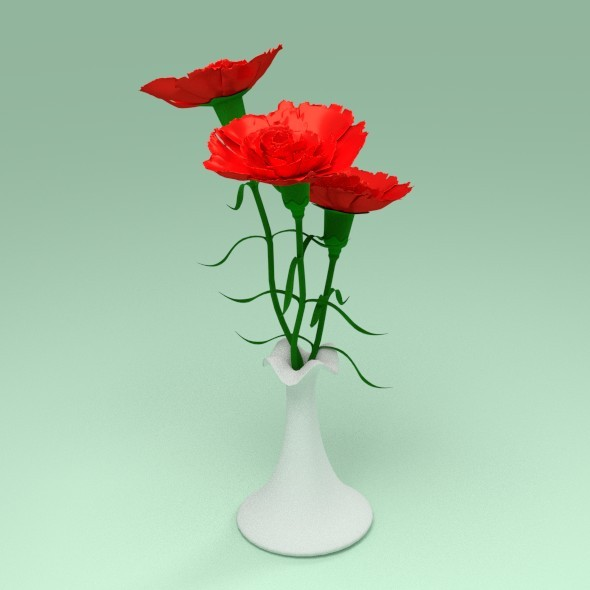3DOcean Carnation in a vase 12245607