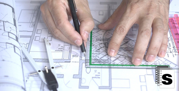 VideoHive Working On Blueprints 12245609