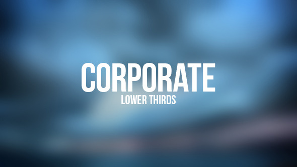 VideoHive Corporate Lower Thirds 12246220