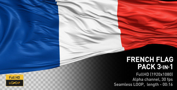 VideoHive French Flag Pack 12247170