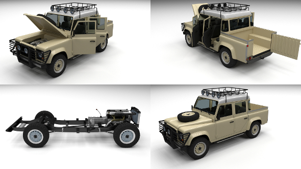 3DOcean Full Land Rover Defender 110 Double Cab Pick Up 12248338