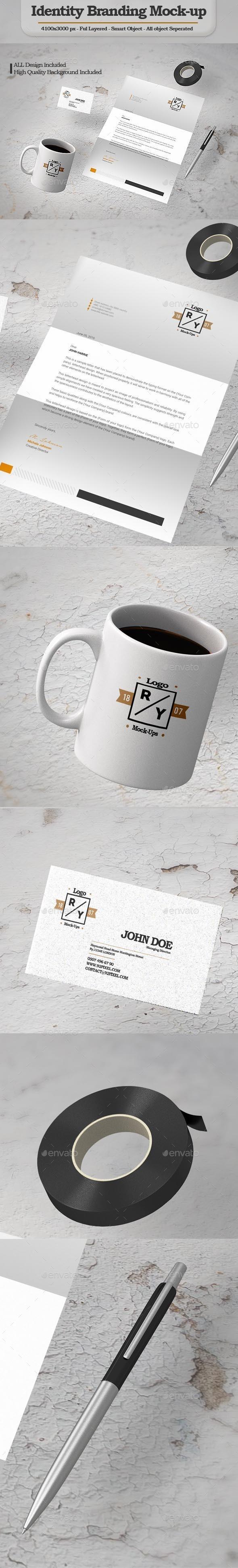 Identity Branding Mock-Up (Stationery)