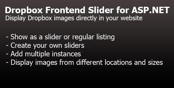 Dropbox Frontend Slider for ASP.NET