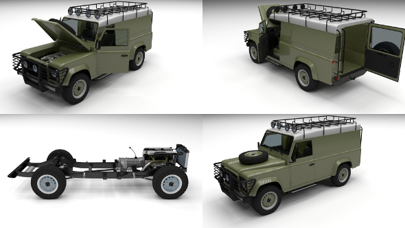 3DOcean Full Land Rover Defender 110 Hard Top 12248572