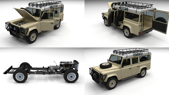 3DOcean Full Land Rover Defender 110 Station Wagon 12248704