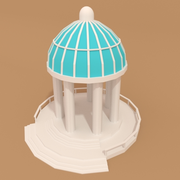 Low Poly Pavilion  - 3DOcean Item for Sale