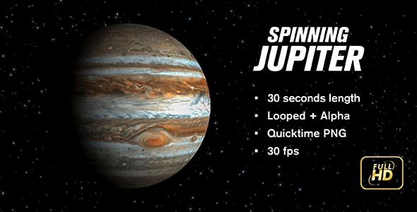 VideoHive Spinning Jupiter 12248807