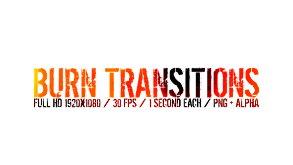 VideoHive Burn Transitions 12249542