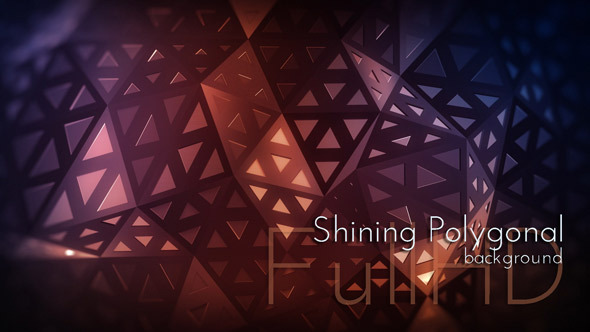 VideoHive Shining Polygonal Background 12249582