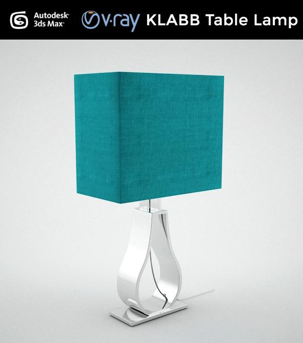 KLABB Table Lamp - 3DOcean Item for Sale
