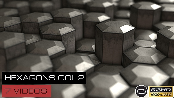VideoHive Dirty Hexagons Collection #2 7 Pack 12250388