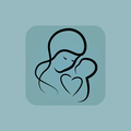 Pale blue mothercare icon