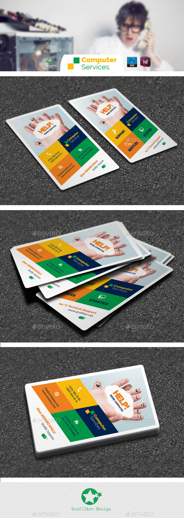 Computer repair business card templates magicingreecefo Images
