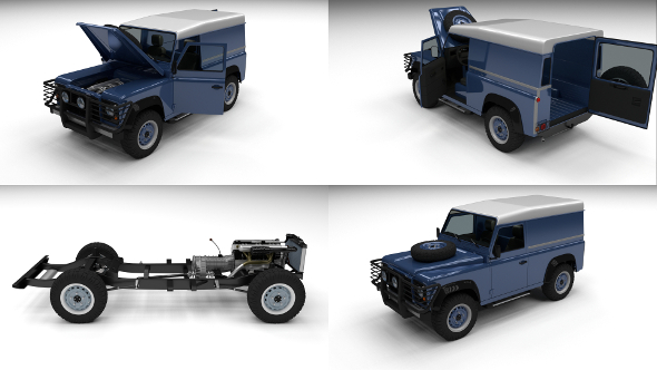 Full Land Rover Defender 90 Hard Top - 3DOcean Item for Sale