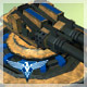 RTS style blue team turret with anim v001