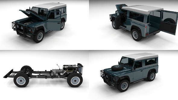 3DOcean Full Land Rover Defender 90 Station Wagon 12251376