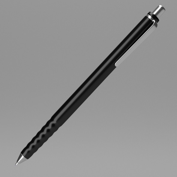 3DOcean Black Pen 12252387
