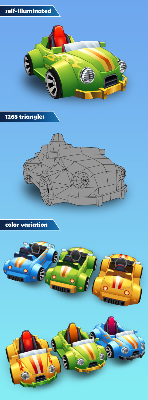 3DOcean Low Poly Car 12252593
