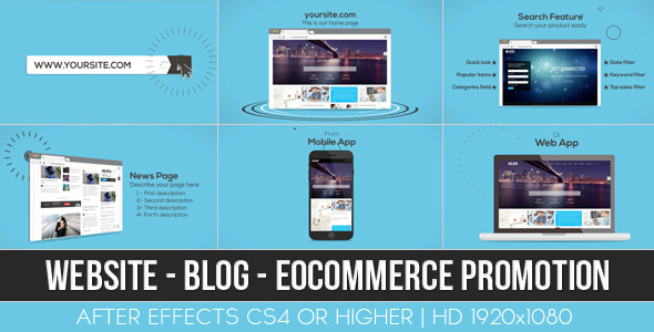 VideoHive Website Blog E-commerce Promotion 12252726