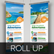 Travel Roll Up Banner Signage InDesign Template