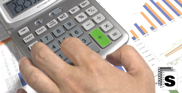 VideoHive Using Calculator 12253343