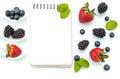 Healthy eating plan, Dieting, berry, Notebook
