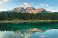 Dolomites Lake Karersee (Lago di Carezza), Italy