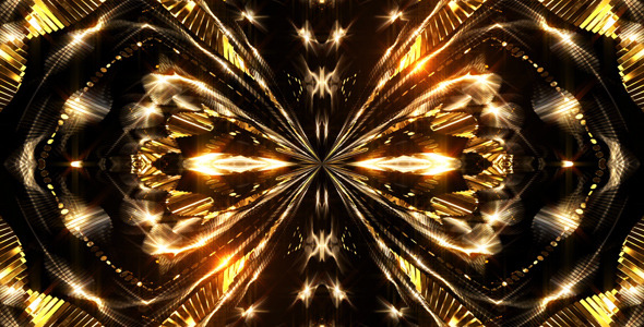 VideoHive Golden Kaleidoscope 12254658