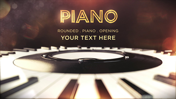 VideoHive 3D Piano Opening 12254747