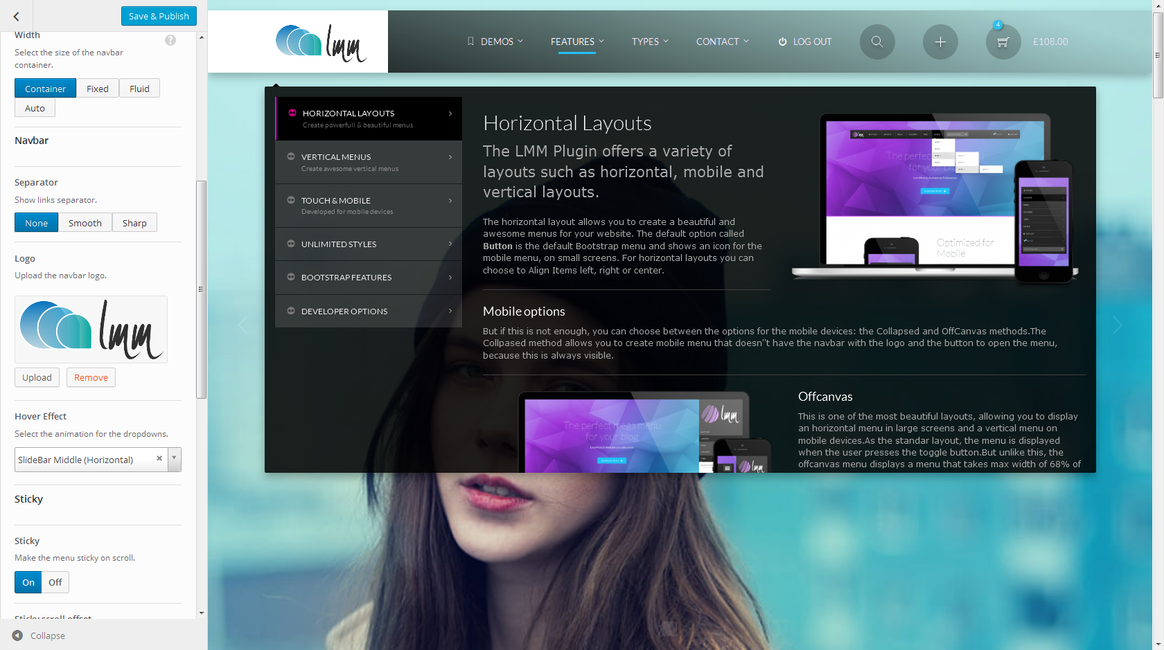 LMM - Wordpress Responsive Mega Menu based on Bootstrap - WPMeta
