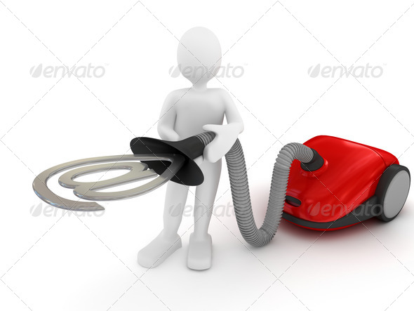 Vacuum cleaner over white - Stock Photo - Images