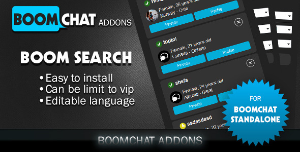 Download Boom search addon for Boomchat php/ajax chat nulled download
