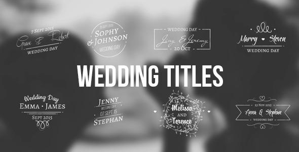 VideoHive Wedding Titles 12263510