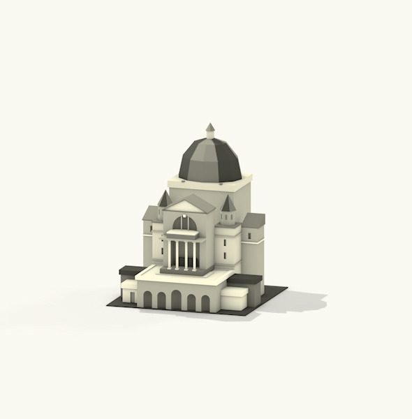 Lowpoly Montreal Building - 3DOcean Item for Sale