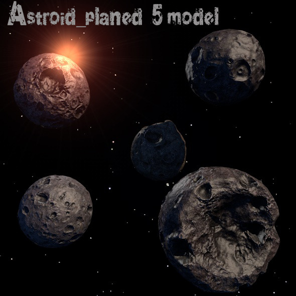 3DOcean Astroid Planet 12263754