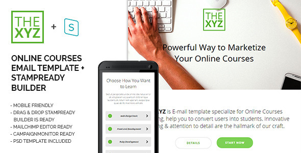 theXYZ - Online Courses Purposes E-mail Template