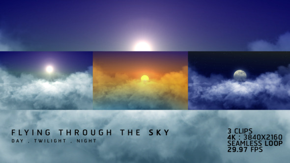 VideoHive Flying Through The Sky 3 styles 12264209