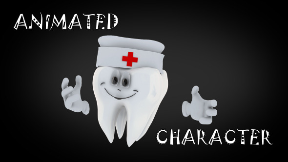 VideoHive Animated Tooth Character 12264360
