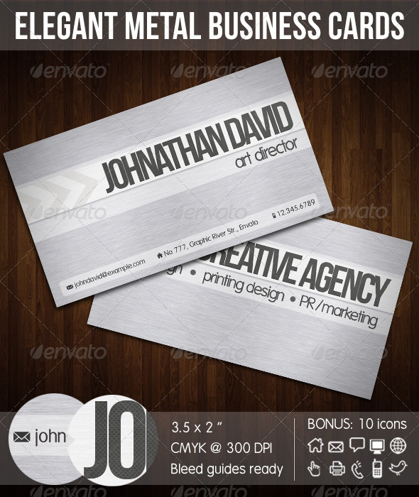 GraphicRiver Elegant Metal Corporate Business Card 149290