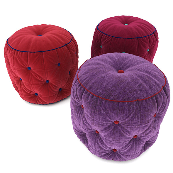 Pouf collection 04 - 3DOcean Item for Sale