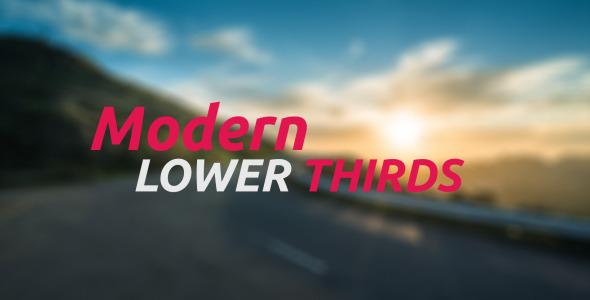 AE模板:现代清洁 品牌公司宣传介绍 电视新闻栏目包装字幕条模板Modern Lower Thirds 免费下载