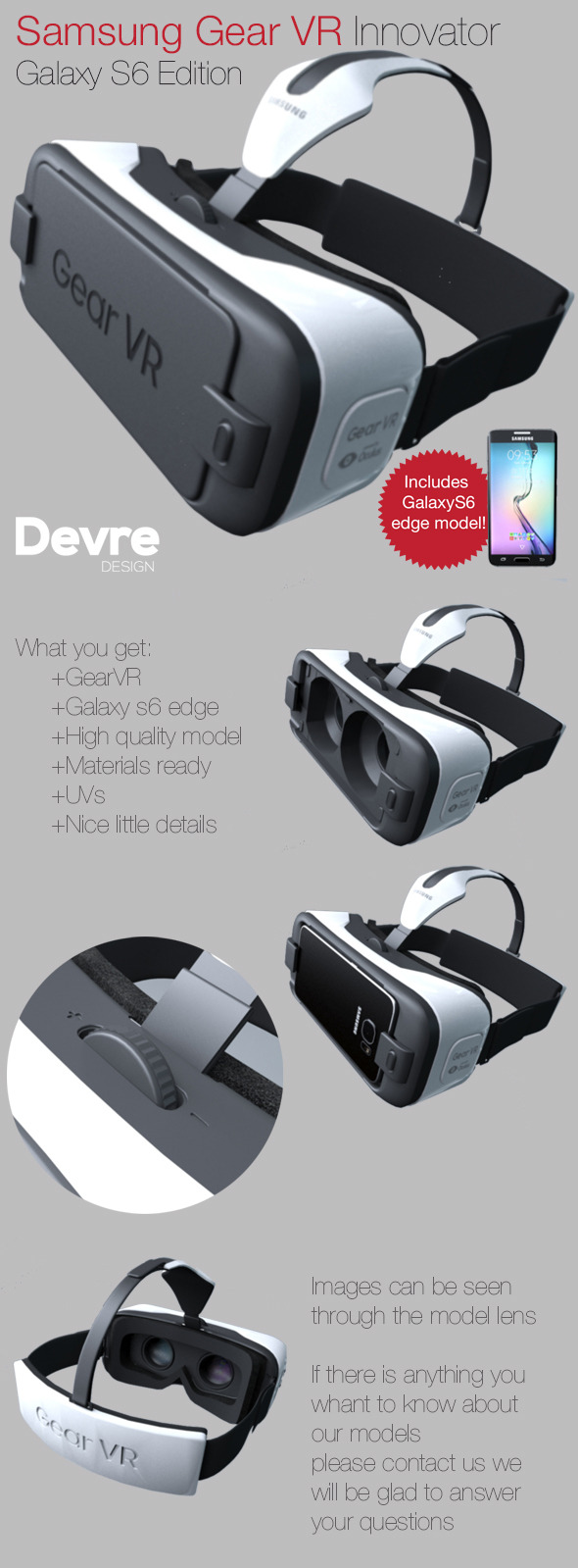Samsung Gear VR innovator s6 edition  - 3DOcean Item for Sale