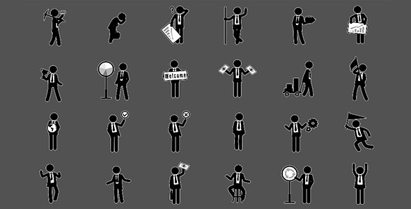 VideoHive Business Stickman Animation Pack 4 12266311