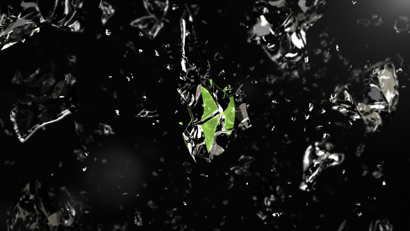 VideoHive Crumbling Liquid Logo Reveal 12266343