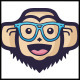 Gorilla Geek Face Logo
