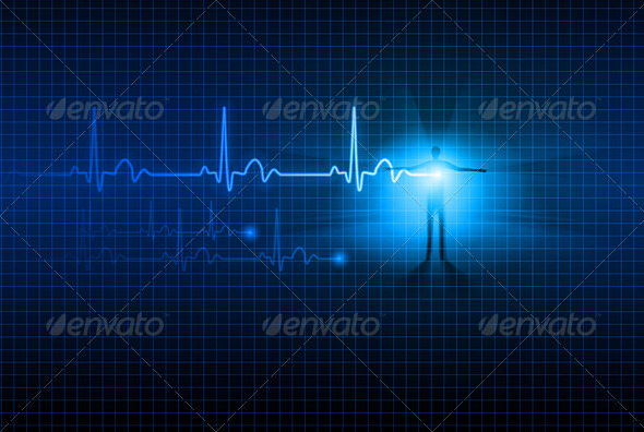 GraphicRiver Abstract ECG 1227829
