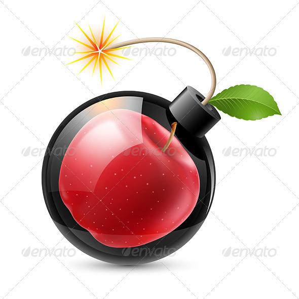 Bomb with Apple