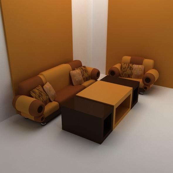 3DOcean classic sofa set 12269362