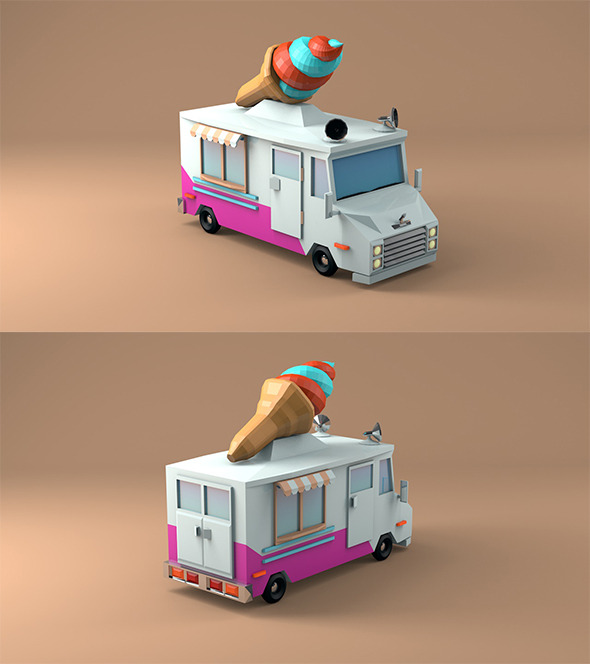 3DOcean Ice Cream Car 12269554