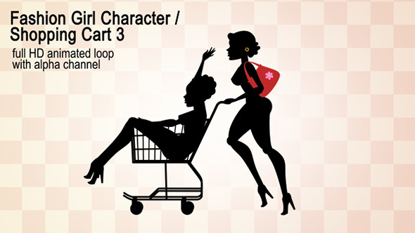 VideoHive Fashion Girl Character Shopping Cart 3 12269676